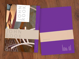 John Rook furniture brochure design